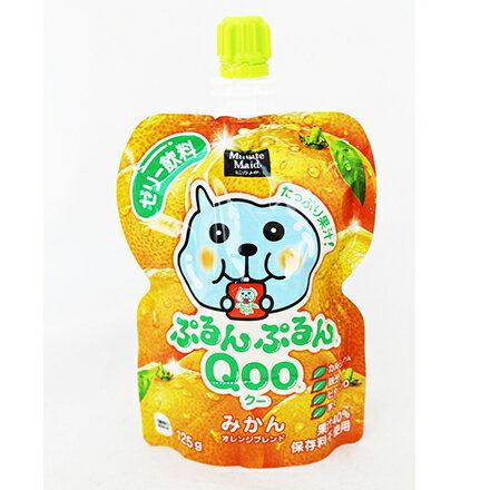 [敵富朗超市]Qoo果凍飲便利包-橘子