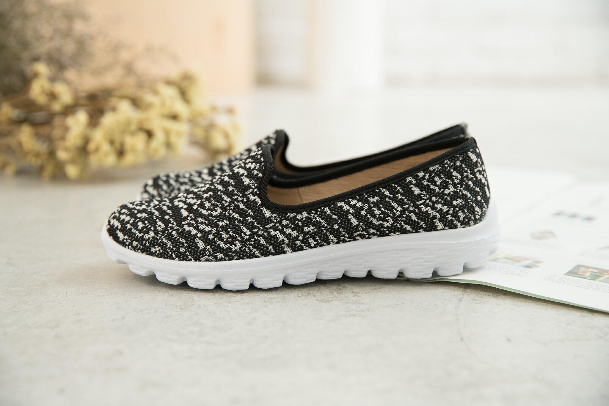 Aimez La Vie 輕盈健走鞋|黑白織布混色百搭休閒鞋 1