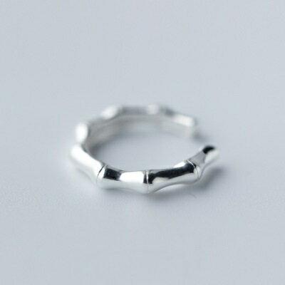 925純銀戒指開口戒~簡約光面獨特 七夕情人節 女飾品73dt370~ ~~米蘭 ~ ~