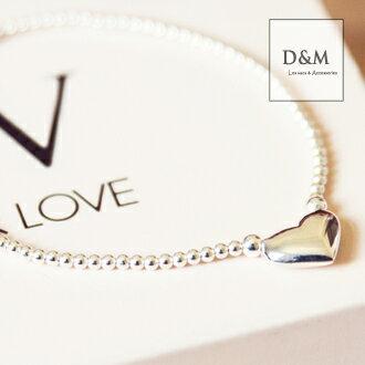 純銀手鍊愛心珠鍊手環pandora可參考 D&M【A00031】