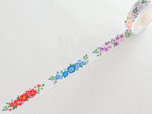 *小徑文化*日本進口 MANET 和紙膠帶Vol.5 - Flower Garden ver.5_花園 ( MN-MT063 )