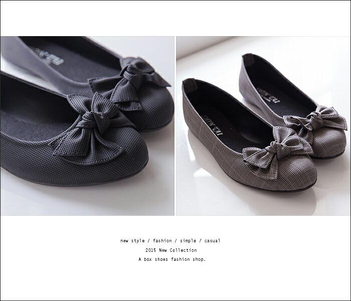 格子舖*【ADP825】台灣製 嚴選OL上班穿搭專櫃 甜美 蝴蝶結 圓頭平底包鞋 娃娃鞋 懶人鞋 3色 2