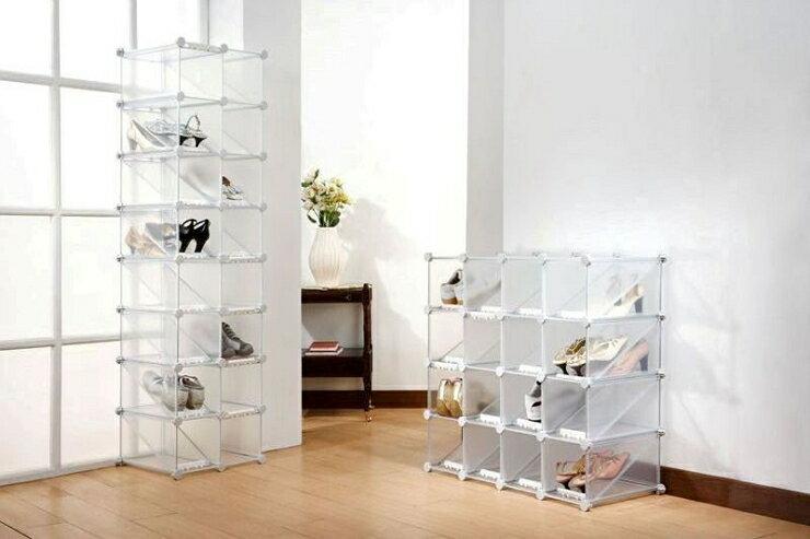 時尚魔術16小格雙層鞋櫃
