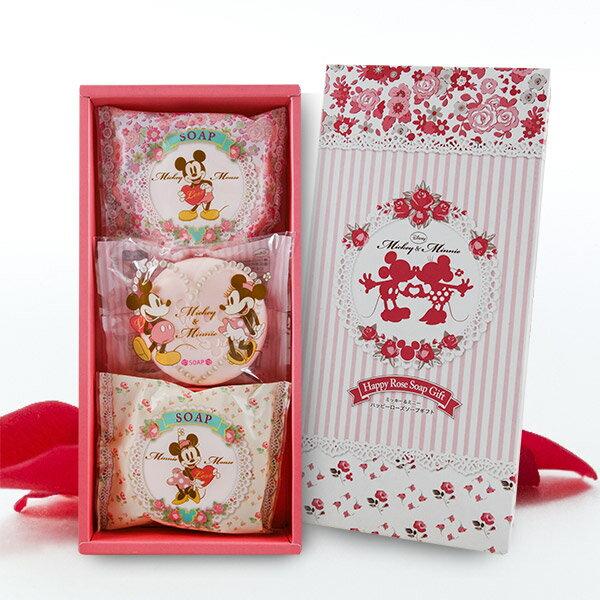 日本製 米奇&米妮玫瑰香皂禮盒組(小) - 限時優惠好康折扣