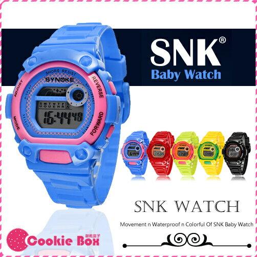 *餅乾盒子* SNK baby watch 運動錶 50米防水 手錶 電子錶 女錶 兒童錶 游泳 夜光 對錶