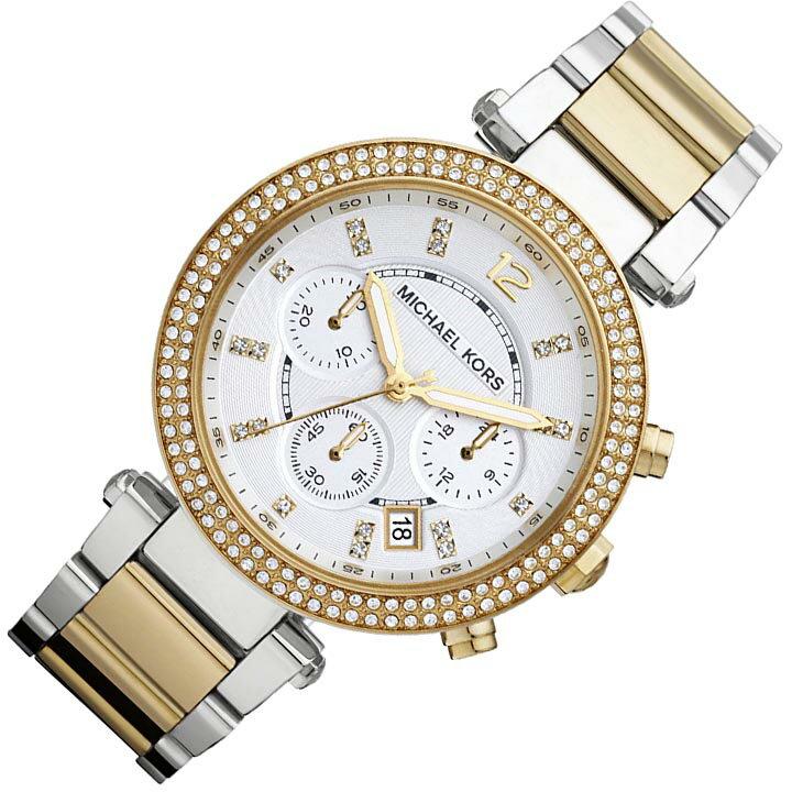 美國Outlet正品代購 MichaelKors MK  金銀色陶瓷 水鑽 三環 手錶 腕錶 MK5626 2