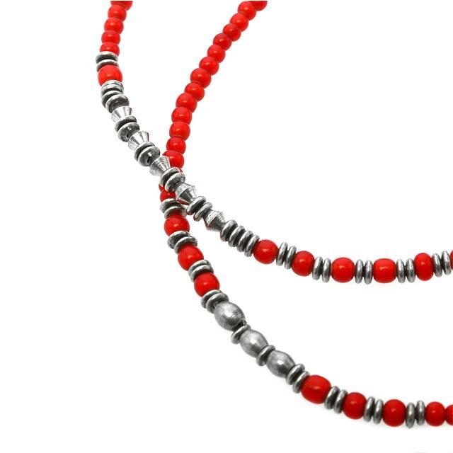 【海外訂購】【amp japan】紅玻璃多圈式金屬串珠手鍊 (AMP-15AHK-401RD  0825590000) 2