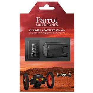 【Parrot 配件】和信嘉 Parrot MiniDrones 離聚合電池 + 座充組 291618002A 派諾特 空拍機 公司貨
