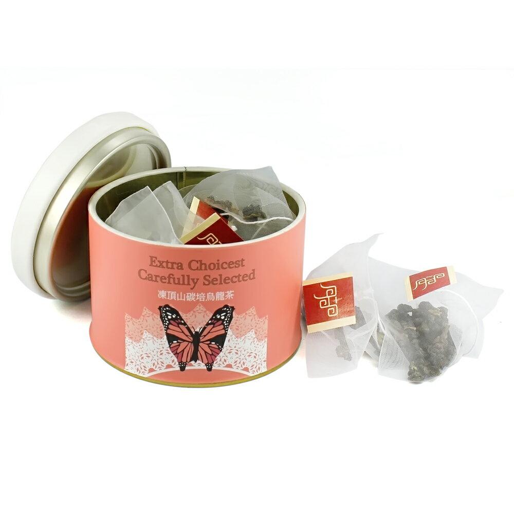【杜爾德洋行 Dodd Tea】嚴選凍頂山碳培烏龍茶立體茶包12入 【台灣鳳蝶紀念版】 1
