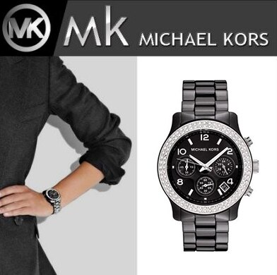 美國Outlet正品代購 MichaelKors MK 陶瓷 水鑽 三環 手錶 腕錶 MK5190 0