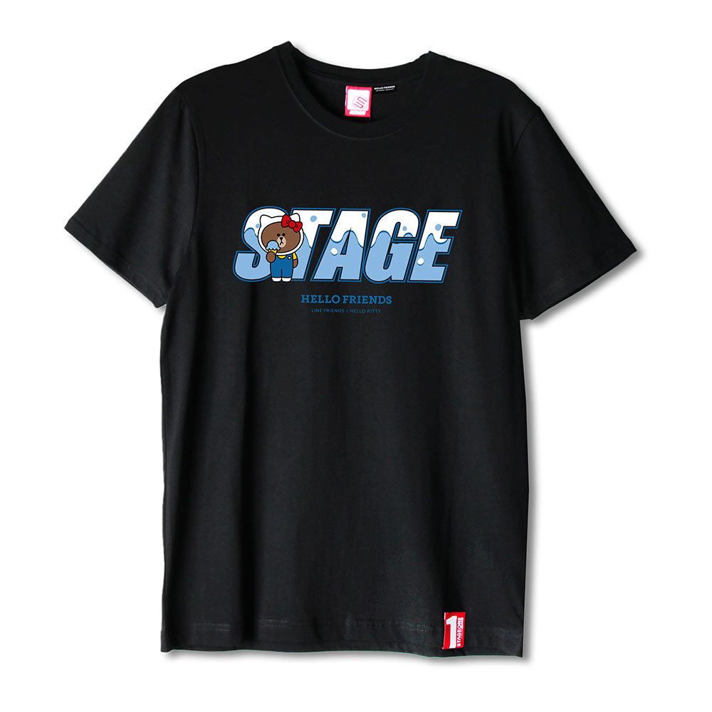 STAGE x HELLO FRIENDS 聯名限定 BROWN ON STAGE TEE 3