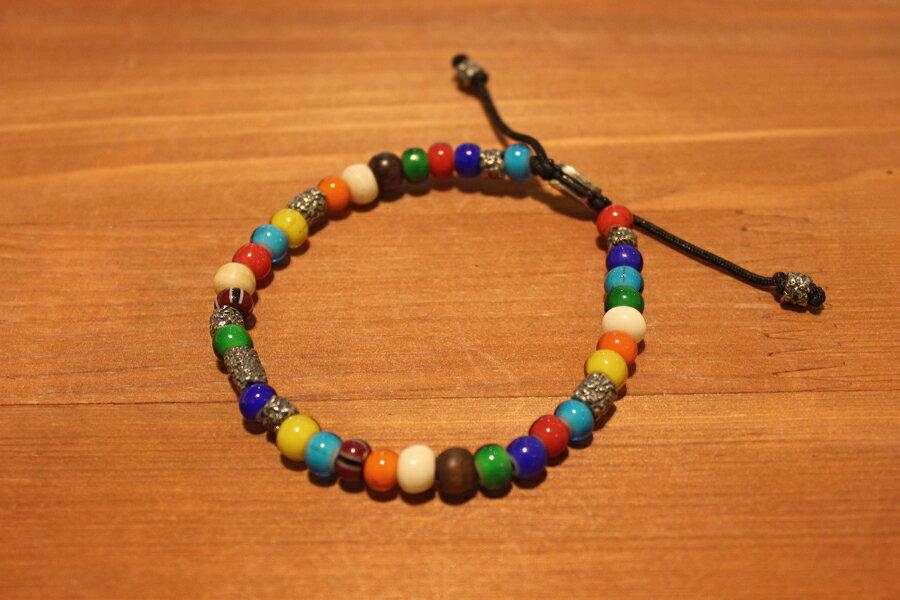 【現貨商品】【M.Cohen】南美洲高彩琉璃珠手環 (MC-B-103300-SLV 09769300OK) 0
