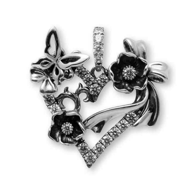 【海外訂購】【KONRON】祈願之心寶石純銀項鍊 50cm(KRP0634-Cz  03167000Q8) 1