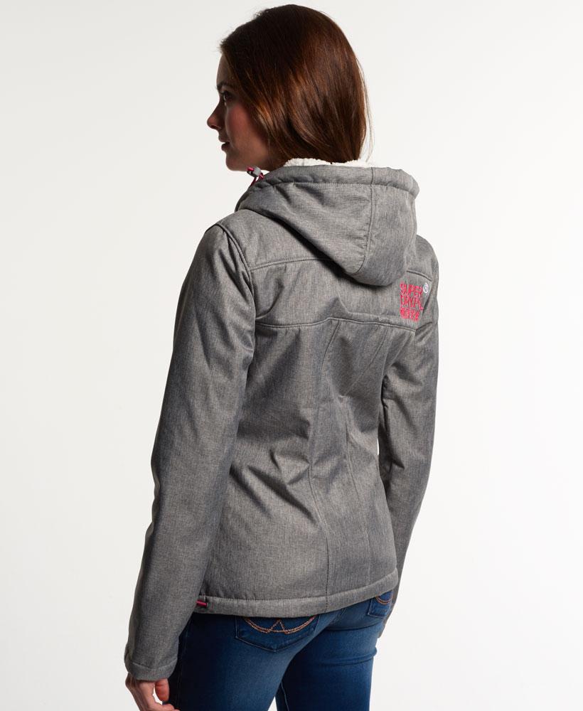 [女款]Outlet英國代購極度乾燥 Superdry Windtrekker 女款 羊羔毛 刷毛 風衣連帽防風防水外套 淺麻灰 3