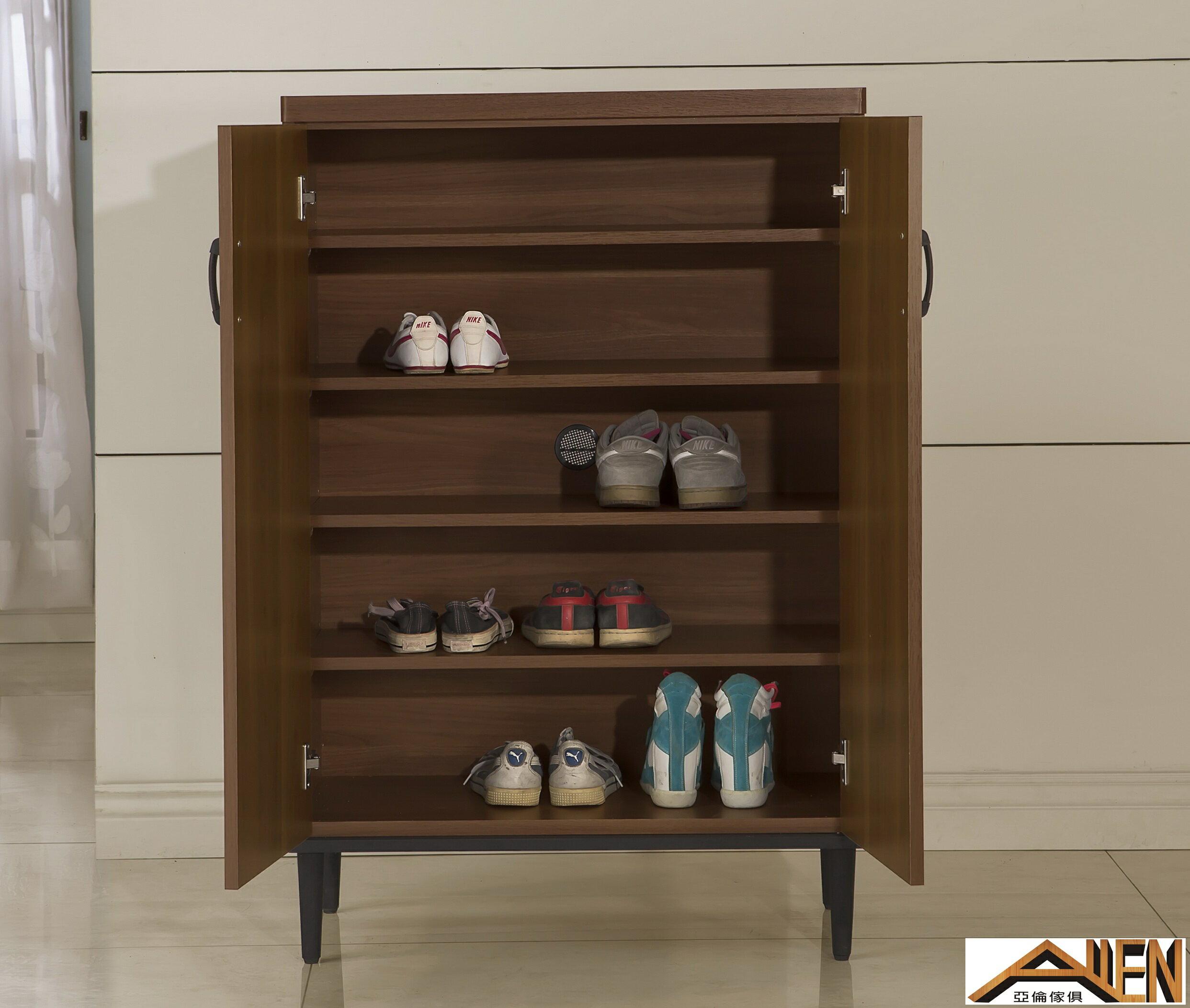 亞倫傢俱*亞當斯立體木紋2.7尺鞋櫃 1