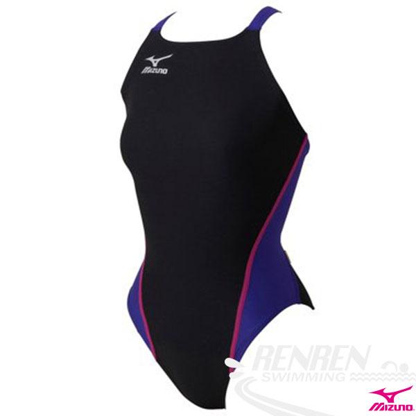 MIZUNO美津濃 女泳衣(黑*紫*玫瑰紅) FITNESS  低叉 運動泳裝  附罩杯
