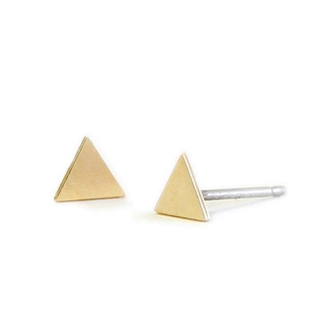 【海外訂購】【Kris Nations】金色幾何三角形手工耳環(E1-charm-G-Triangles  0866270000) 0