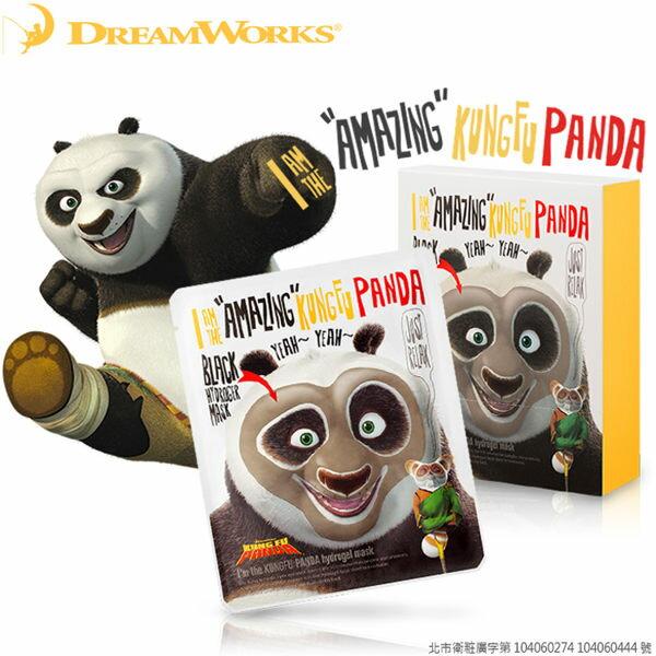 DreamWorks x Oliveyoung 聯名 夢工廠 功夫熊貓水凝膠黑面膜 33g