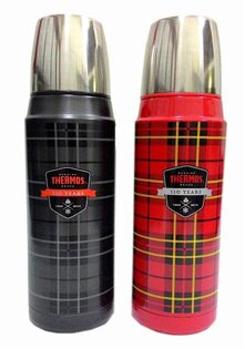 《BUYTAKE》THERMOS 膳魔師 H2000 TAR/H2000 TA蘇格蘭復古風不鏽鋼真空保溫瓶470ml