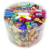 萬聖節Halloween到(土耳其) Tayas Damla sour fruit bursts 黛瑪拉什錦酸味軟糖 1桶 1000 公克 特價 160 元 【8690997153920】(超級炫酸酸糖 酸甜搗蛋糖 整人糖 萬聖節糖果)