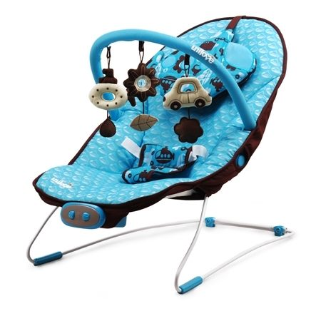 『121婦嬰用品館』unilove 寶寶安撫椅 躺椅 搖搖椅 - 藍 0