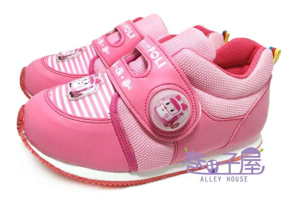 【巷子屋】POLI 波力 女童電燈造型復古運動鞋 [41913] 粉 MIT台灣製造 超值價$198