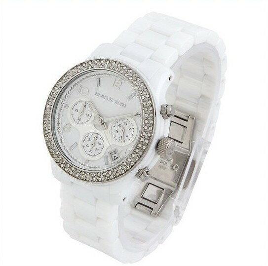 美國Outlet正品代購 MichaelKors MK 陶瓷 水鑽 三環 手錶 腕錶 MK5188 2
