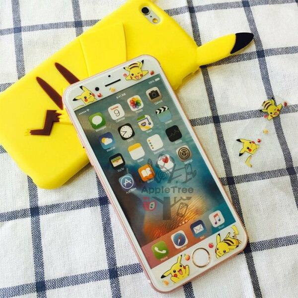 精靈寶可夢 神奇寶貝 皮卡丘 iPhone6/6S PLUS 5S SE 玻璃貼 強化玻璃 鋼化玻璃 耐磨