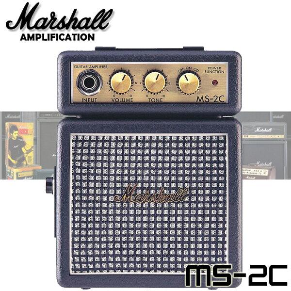【非凡樂器】『Marshall MS2C (MS-2C)』復古式小音箱/攜帶型吉他音箱