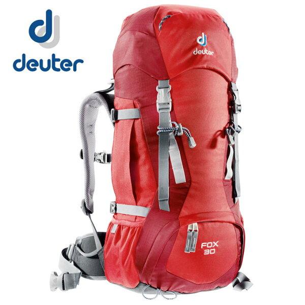 【露營趣】中和 附手電筒 德國 deuter 36053 Fox 30+4L 登山背包 休閒背包 旅遊背包