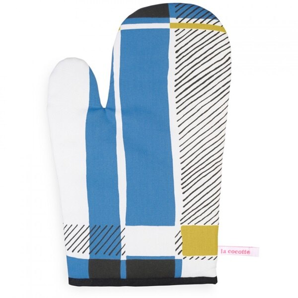 《法國 La Cocotte Paris》Blue Tartan Oven glove 隔熱手套 0