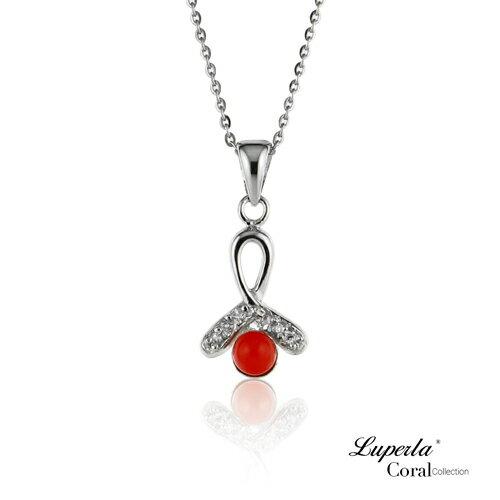 大東山珠寶 大吉大利全紅珊瑚項鍊墜飾