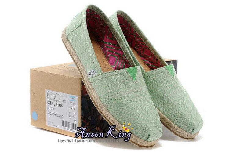 [女款] 國外代購TOMS 帆布鞋/懶人鞋/休閒鞋/至尊鞋 亞麻系列 亞麻底絲紋 綠 0