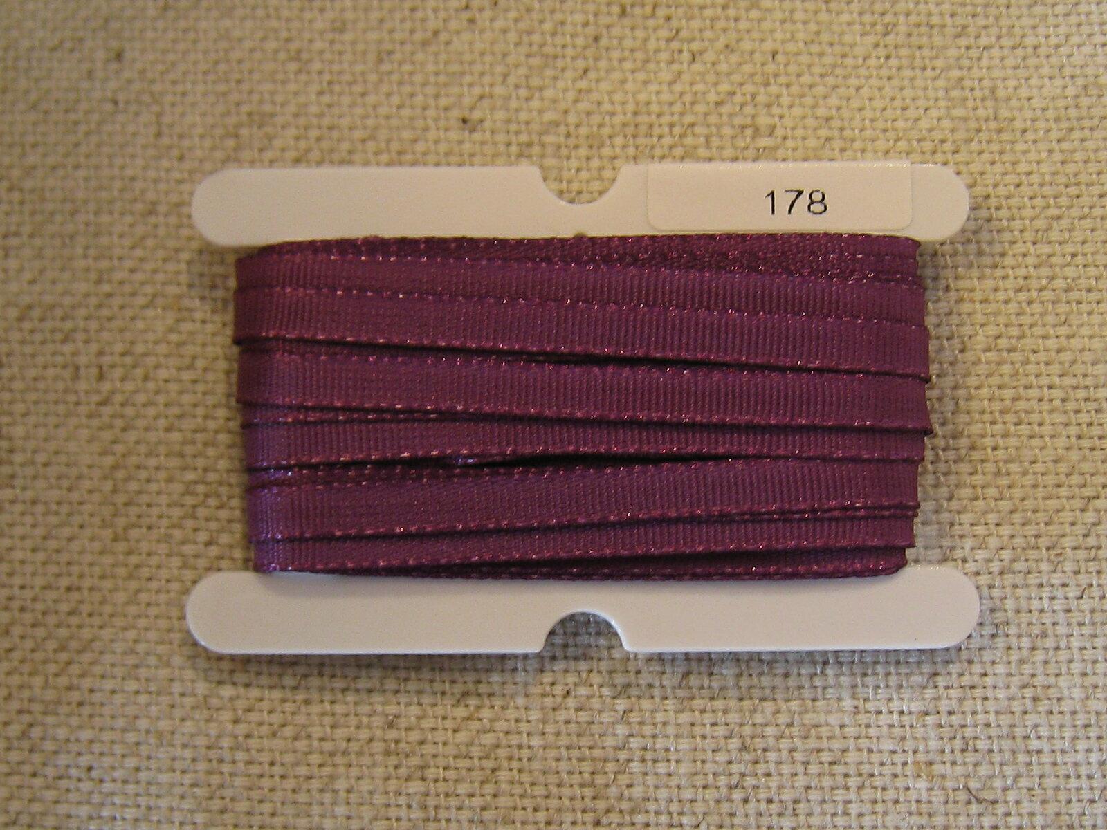 Petals緞帶刺繡- 橫紋帶 3.5mm (十九色) 2