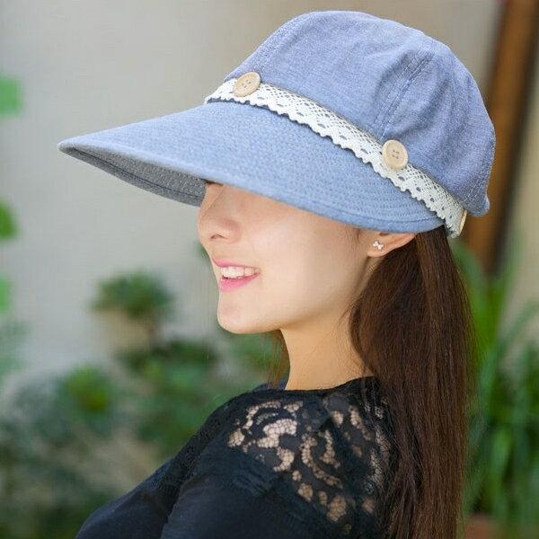 (預購)韓版浪漫蕾絲兩用大沿防曬遮陽帽/空頂帽(可拆卸)