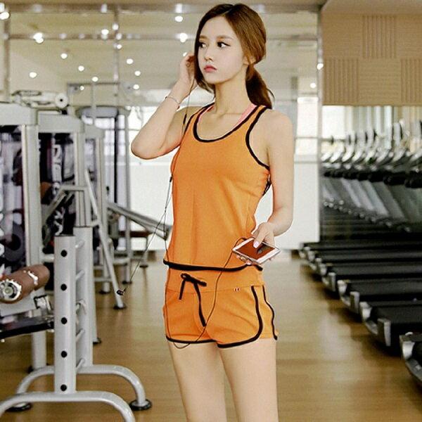 PS Mall 韓版背心短褲兩件式運動風泳裝【ET260】泳衣 溫泉 沙灘 BIKINI