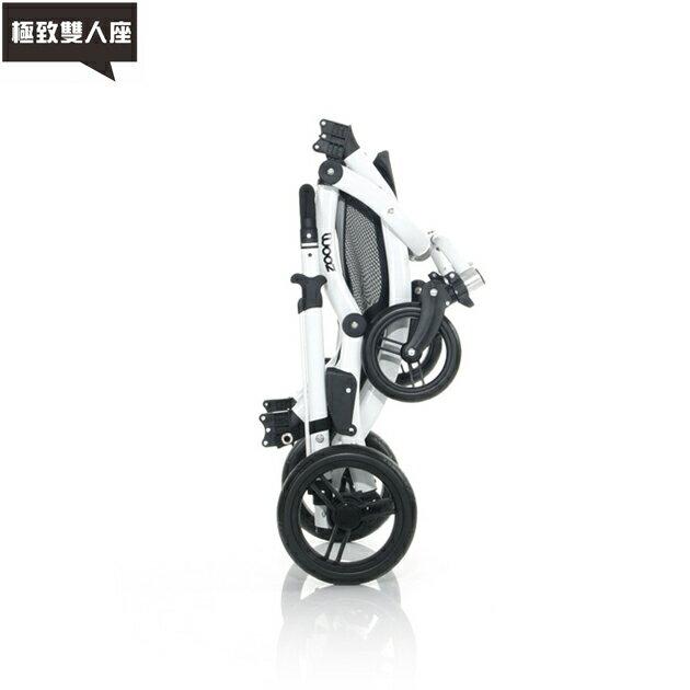 【好禮五選二】德國【ABC Design】ZOOM 嬰兒雙人推車(個性黑白)(蚊帳/雨罩-11月寄出) 3