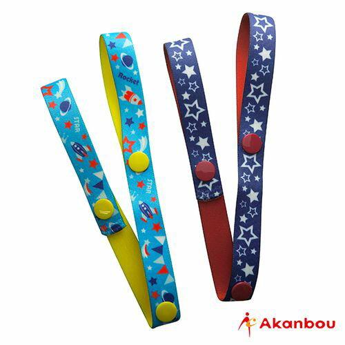 ★衛立兒生活館★日本Akanbou 日本製玩具吊帶2入組(星星火箭)AK335593