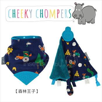 ✿蟲寶寶✿【Cheeky Chompers】Neckerchew 全世界第一個咬咬兜+咬咬巾組合 -森林王子《現+預》