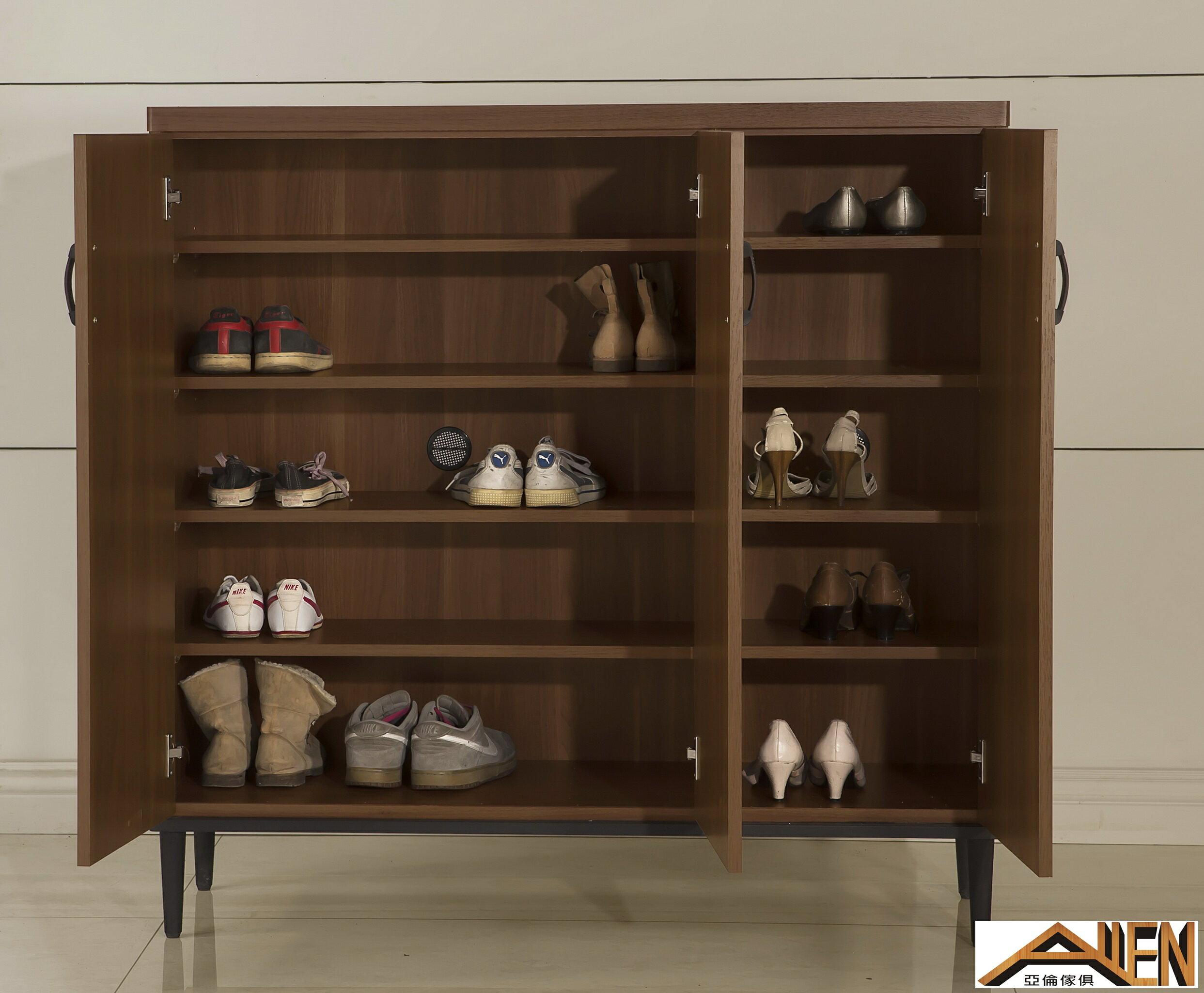 亞倫傢俱*亞當斯立體木紋4尺鞋櫃 2