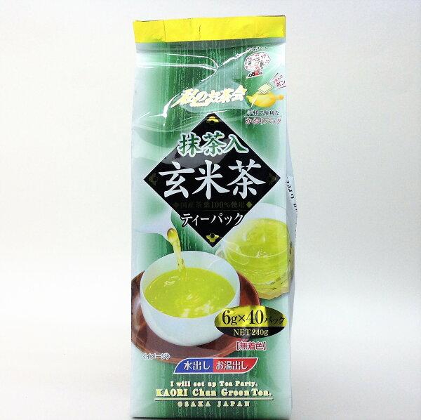 有樂町進口食品 日本宇治森德綠茶 玄米茶 (240g)40包入 4970058489880