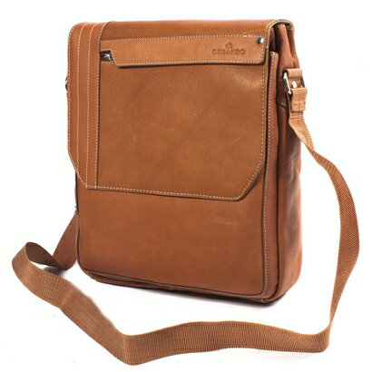 Woodland Leather Iso Leather Messenger Bag (tan) 0