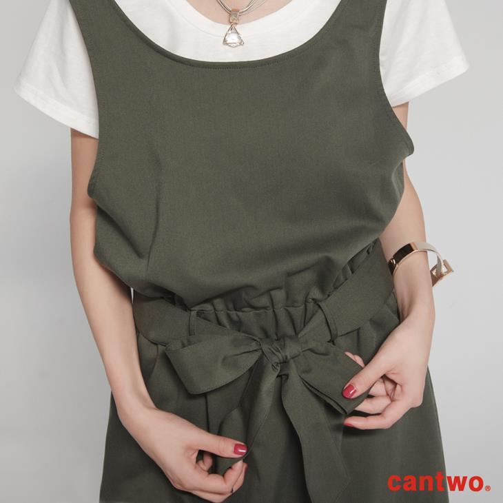 cantwo挖背連身裙+短T兩件式組合(共三色) 5