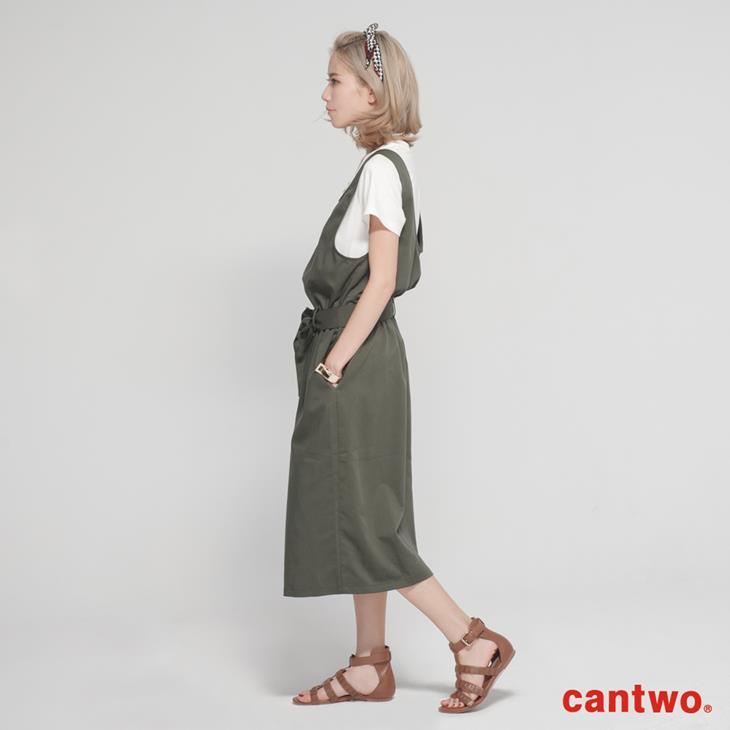 cantwo挖背連身裙+短T兩件式組合(共三色) 2