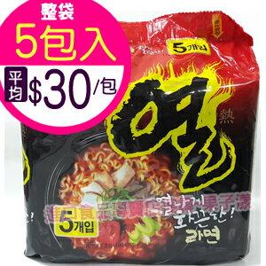 韓國不倒翁 辛辣拉麵 全球TOP辣泡麵 (袋裝5包入) [KR228A] 0