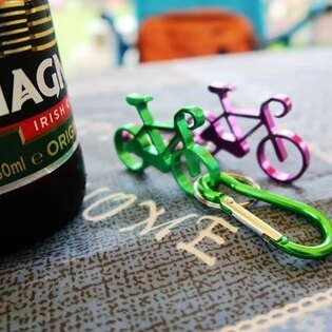 美麗大街【BK101201】鋁合金單車模型鑰匙扣 開瓶器 自行車模型小單車勾