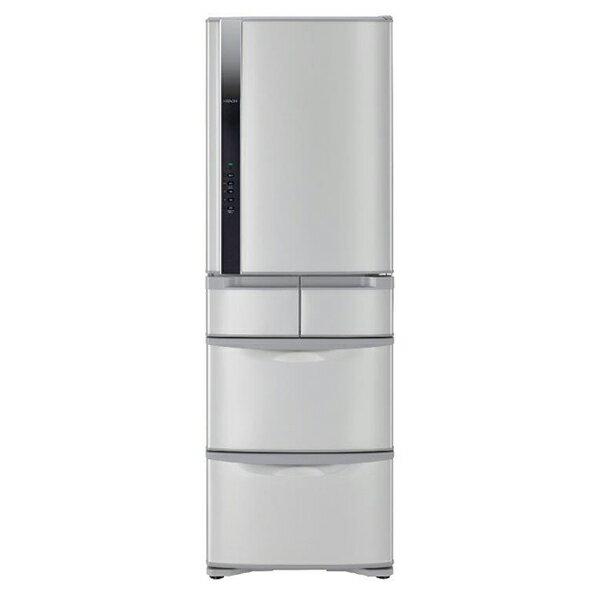 【日立HITACHI】日本原裝變頻420L。五門電冰箱。星燦不鏽鋼(RS42FJ/RS42FJ_SH)