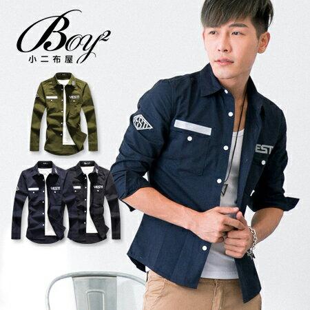 ☆BOY-2☆【PPK87017】VESTI 美式電繡修身軍裝襯衫 1
