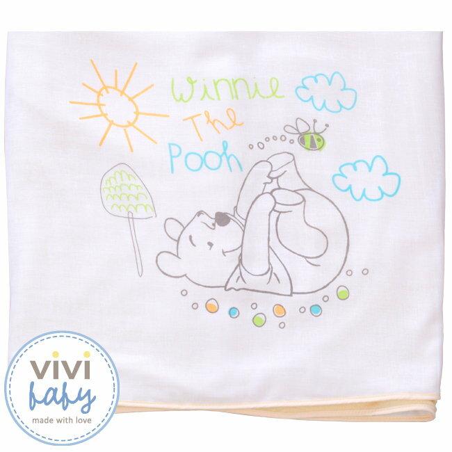 ViViBaby - Disney迪士尼小熊維尼雙面大浴巾 (毛巾+紗布) 1