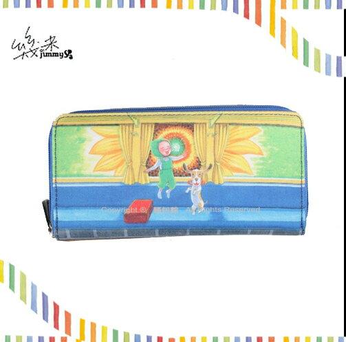 【騷包館】幾米 首創皮夾 輕量花布系列==太陽花長夾拉鍊包  205-2091-001